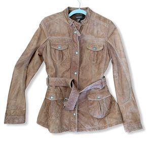 Vintage Danier Distressed Leather Jacket